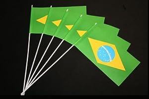 Papierfähnchen: Brasilien 50er Packung