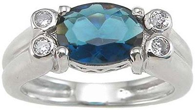 Genuine Cassis (TM) 925 Sterling Silver Rhodium Finish CZ Bezel Anniversary Ring - Finger Size 8. 100% Satisfaction Guaranteed.