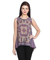 ELI Multicolour Party Wear Casual A-line Sleeveless Western Women Top