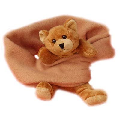 Bear Hands Fleece Buddy Scarf Brown Bear On Camel back-947591