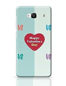 PosterGuy Redmi 2 / Redmi 2 Prime Case Cover - Love Love Happy Valentines Day With Heart I Love You Cover Card Happy Valentine'S Day, Love, Greetings, Lovers Day, Heart, Happy Valentines Day Background.