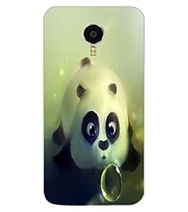 ColourCraft Cute panda Design Back Case Cover for MEIZU M3 NOTE