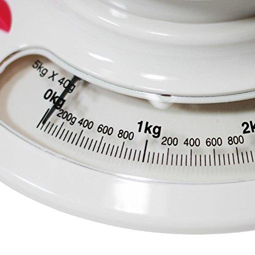 Balance de cuisine avec bol blanc jusqu'à 5 kg de mécanique