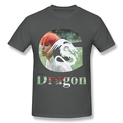 Men's GD G Dragon G-DRAGON BIGBANG MADE Spring Short Sleeve T Shirt XL DeepHeather (Good Boy G Dragon Shirt compare prices)