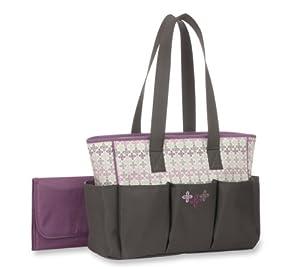 Graco Nyssa Collection 6 Pocket Tote Diaper Bag, Grey