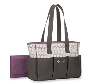 buy graco nyssa collection 6 pocket tote diaper bag grey online at low price. Black Bedroom Furniture Sets. Home Design Ideas