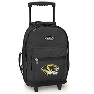 Mizzou Rolling Backpack University of Missouri Tigers - Wheeled Travel or School Bag Carry-On Travel Bags with Wheels -Suitcase Best Quality-