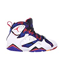 "Jordan 7 Retro ""Sweater"" BP Little Kids Shoes White/University Red-Black-Bright Concord 304773-142"