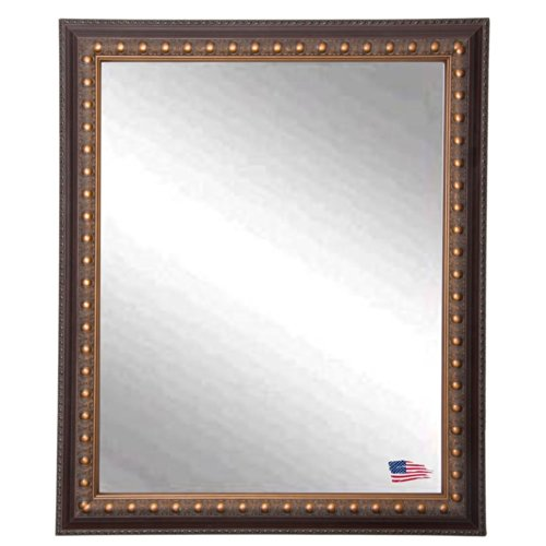 American Made Rayne Classic Cameo Bronze Wall Mirror, 24.5 X 30.5 front-749170
