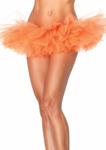 Wingeler Women Tutu Skirt Dress Adlut Ballerina Orange
