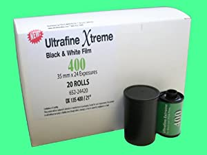 Ultrafine Xtreme Black & White 35mm Film ISO 400 24 exp 20 roll pack