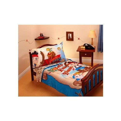 Jake and the Neverland Pirates 4 Piece Microfiber Toddler Bed Set - 1