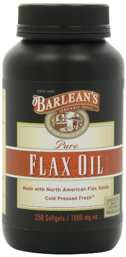 Barlean'S Organic Oils Pure Flax Oil, 250 Count Softgels Bottle front-306068