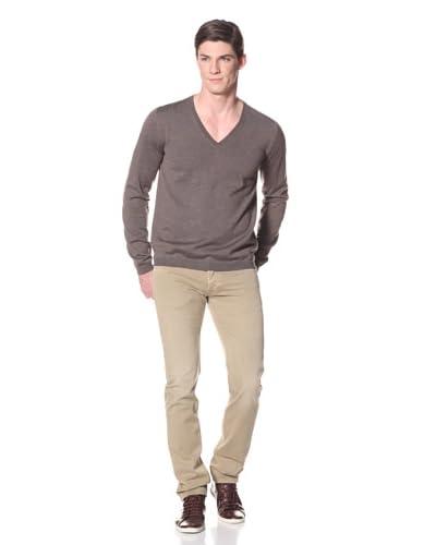 Prada Men's V-Neck Sweater  [Brown]