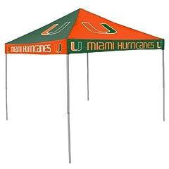 NCAA Miami Hurricanes Checkerboard Tent by Logo Chair Inc.
