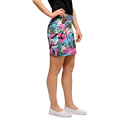 Loudmouth Golf Ladies Skorts: Pink Flamingos - Size 2 by Loudmouth Golf