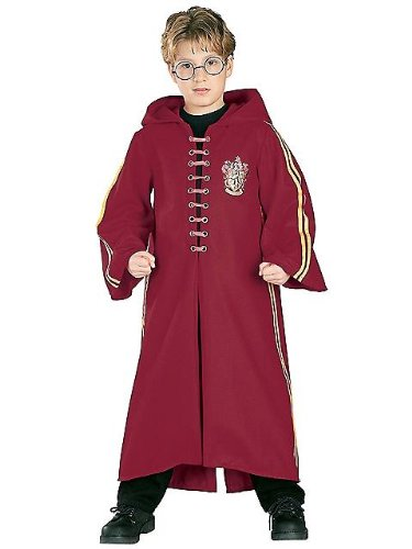 Officially Licensed Super Deluxe Harry Potter Quidditch Robe Crimson Costume