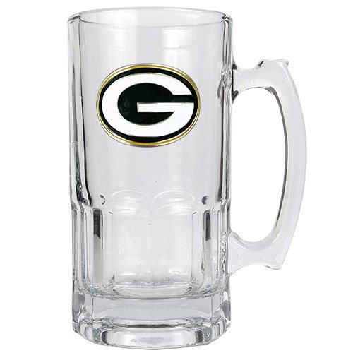 NFL Green Bay Packers 1-Liter Macho Mug (Primary Logo) (Green Bay Packer Beer Glass compare prices)