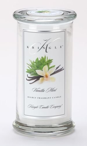 Kringle Candle Company Large Classic Apothecary Jar - Vanilla Mint