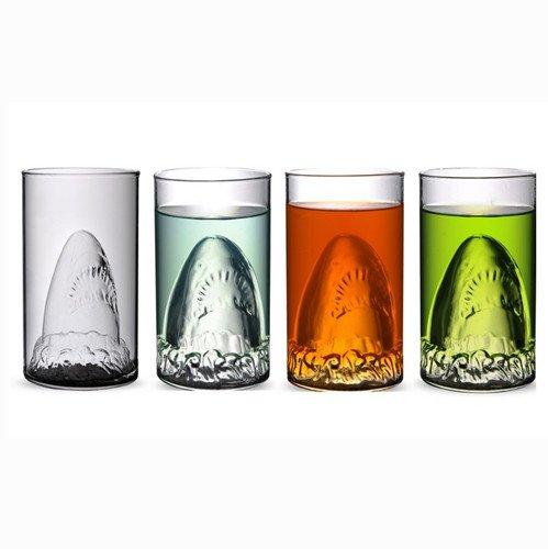Amazon.com | Autek Sharks Cup Creative Transparent Beer Water Wine Drinking Glass Mug: Coffee Cups & Mugs
