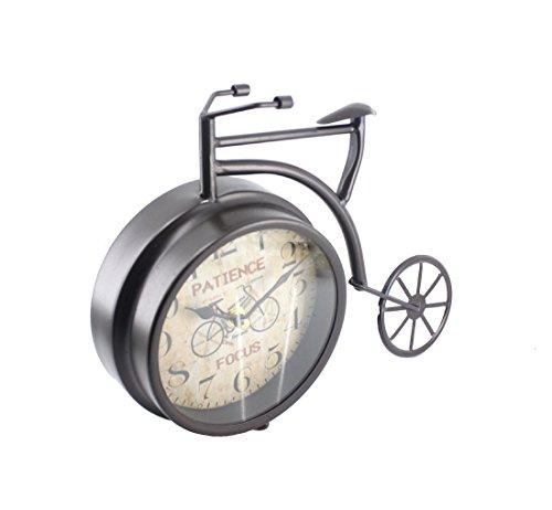 """Handcrafted Bike/Bicycle Analog Desk Clock,11""""x8.6"""",vintage Rustic Look (Black) 3"""