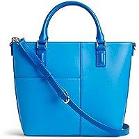 Vera Bradley Faux Leather Composition Satchel Bag (Coastal Blue)