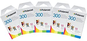 Polaroid PIF-300 Instant Film for 300 Series Cameras -10 PACK + Fiber Cloth