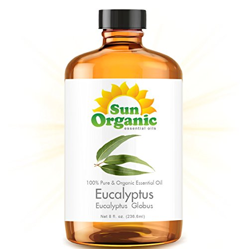 Eucalyptus - Mega 8 Ounce - Organic, 100% Pure Essential Oil (Best 8 Fl Oz / 236Ml) - Sun Organic