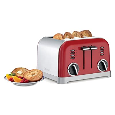 Cuisinart CPT-180 4-Slice Metal Classic Toaster Metallic Red (Certified Refurbished) by Cuisinart