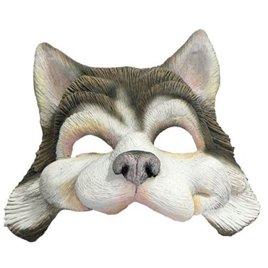 Husky Dog Half Mask Animal Halloween Costumes Adult Review  sc 1 st  Realistic Costume & Realistic Costume: Husky Dog Half Mask Animal Halloween Costumes Adult