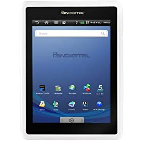 Pandigital Android 1 GB 7-Inch Multimedia Tablet and Color eReader with Kindle (White) R70G100