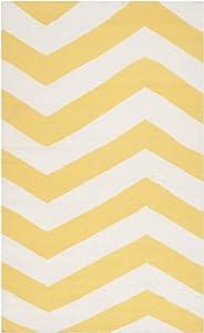 Surya Frontier FT-278 Flatweave Hand Woven 100% Wool Sunshine Yellow 2' x 3' Geometric Accent Rug