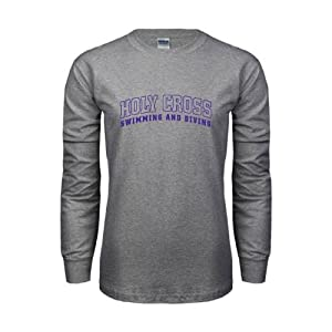 Holy Cross Grey Long Sleeve T-Shirt, XXX-Large, Swimming and Diving