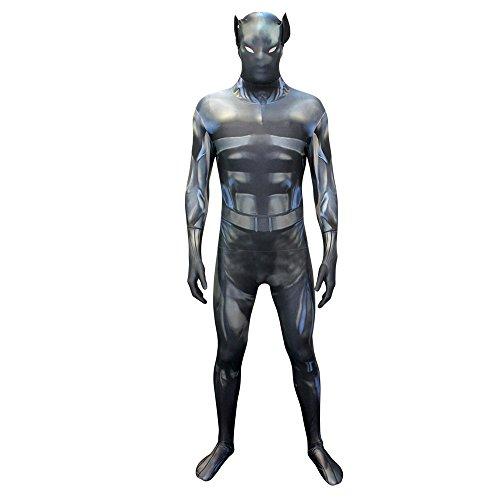 Morphsuits-Costume intero leopardato per travestimento, Adulto, colore: nero, taglia: XX-Large _p)