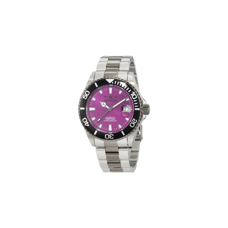 Invicta Mens 10497 Pro Diver Automatic Purple Dial Two Tone Stainless Steel Watch