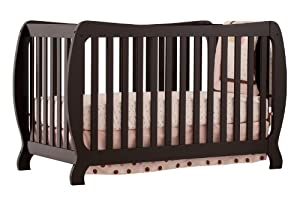 Stork Craft Monza II Fixed Side Convertible Crib, Black