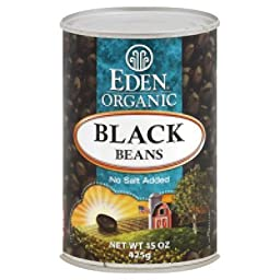 Eden Foods Black Beans Can 15 Oz (Pack of 12)
