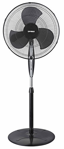 Optimus F-1872 Oscillating Stand Fan with Remote Control, 18