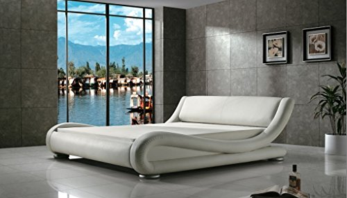 greatime-b1070-contemporary-upholstered-bed-queen-white