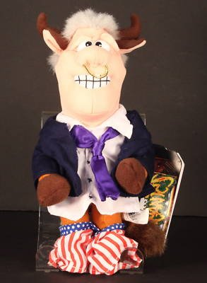 Infamous Meanies Bull- Bill Clinton Beanbag Plush Toy - 1