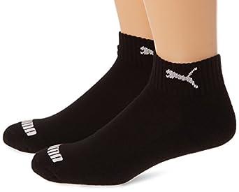Puma Quarter - Chaussettes de sport - Lot de 2 - Homme - Noir (Black) - FR: 35-38 (Taille fabricant: 35/38)