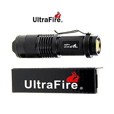 UltraFire 500 Lumens Professional High Quality Ultra Bright Tactical LED Flashlight Kit