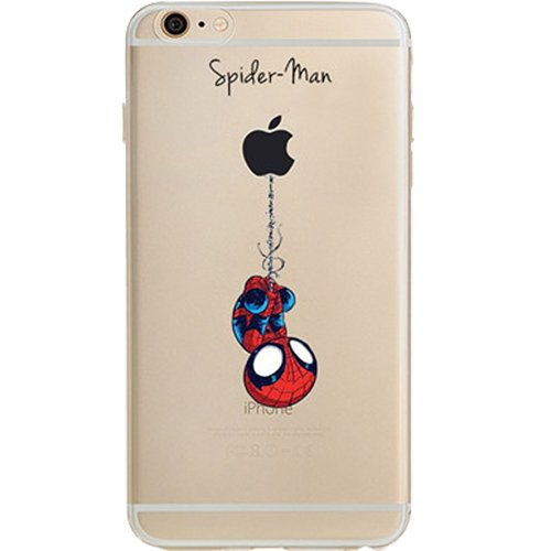 Batman, Catwoman, Joker, Harley Quinn, Iron Man, Captain America, Spider Man, The Hulk, Thor, Deadpool Jelly Clear Case for Apple iPhone 7 PLUS (Spider-Man)