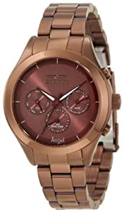 Invicta Watch Angel Women's Quartz Watch with Brown Dial Analogue Display and Brown Stainless Steel Plated Bracelet 12468