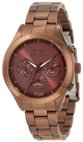 Invicta Women's 12468 Angel Brown Dial Brown Ion-Plated Stainless Steel Watch