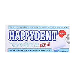 Happydent Chewing Gum - Green Mint 6.6g Pack