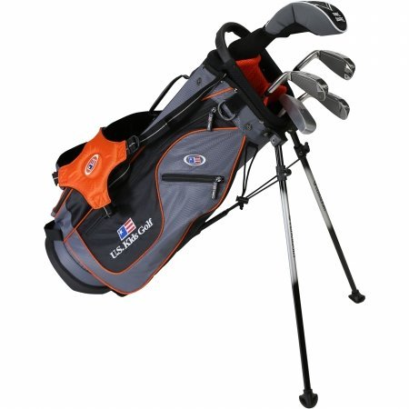 "US Kids 2016UL51 51"" 5-Club Stand Bag Set Grey/Orange Bag Right Hand Ultralight"