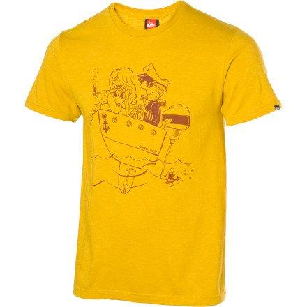 Quiksilver Captain T-Shirt - Short-Sleeve - Men's Yellow Heather, L