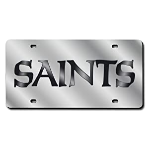 New Orleans Saints License Plate Cover