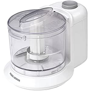 Black & Decker HC306 1-1/2-Cup One-Touch Electric Chopper, White